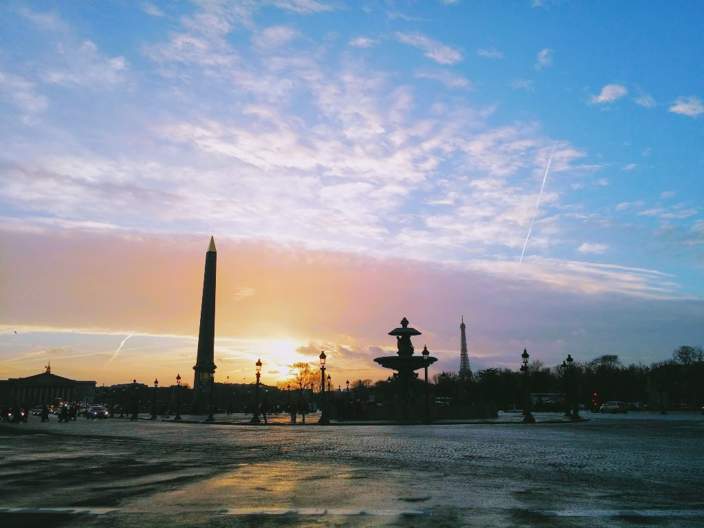 Sunset at Place de la Concorde