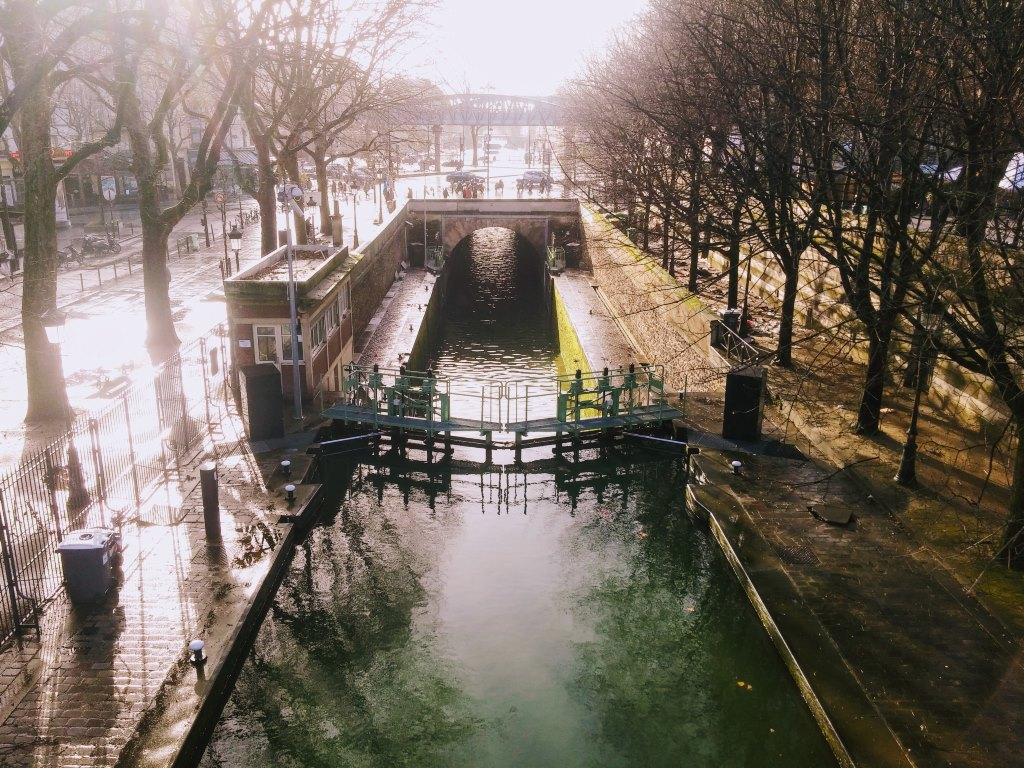 Canal in Paris, France