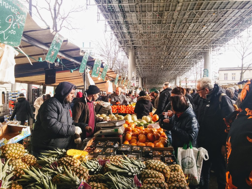 Market in the suburbs of Paris