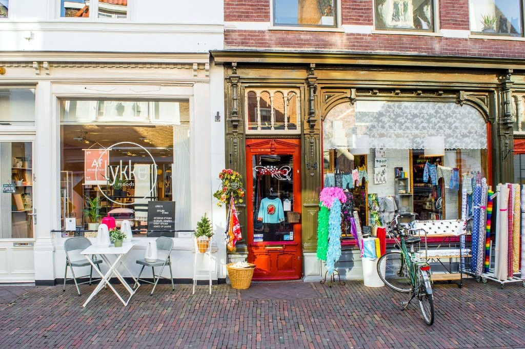 Shops in the Krommestraat in Amersfoort