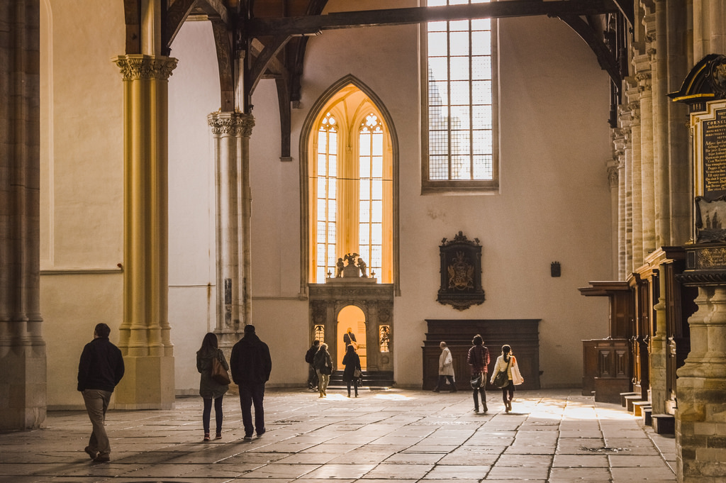 Inside the Oude Kerk in Amsterdam