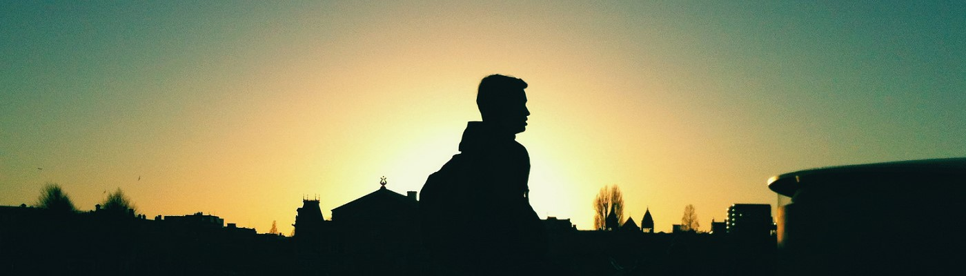 Today: Silhouettes against a Sunset in Amsterdam
