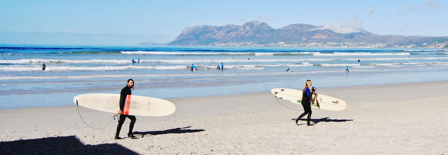 South Africa: Surfing at Muizenberg Beach