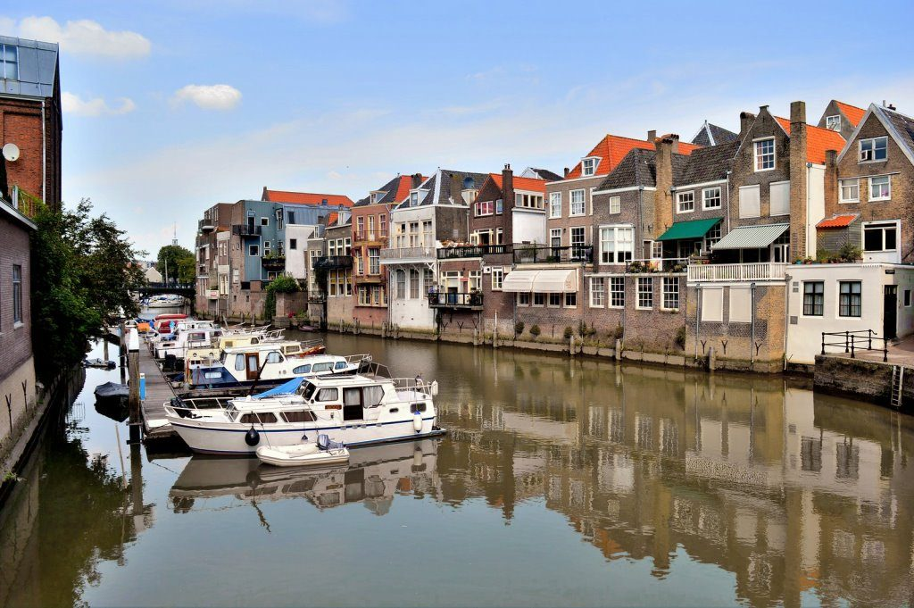Dordrecht's historic town center has many canals
