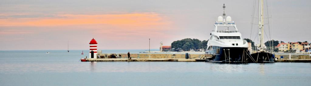 Sunset in Zadar, Croatia.