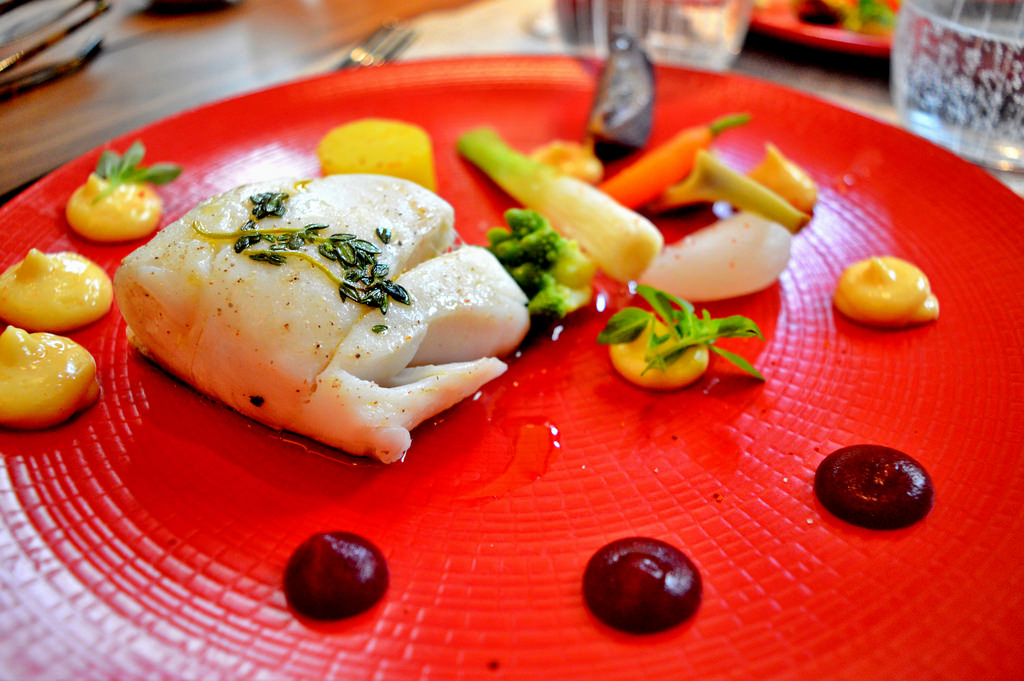 Cod fish dish at Les Fables de la Fontaine in Paris.