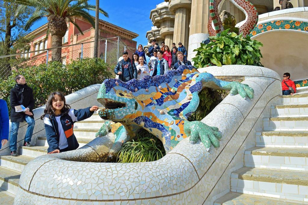 Mosaic Salamander (el drac), Park Guëll (Barcelona).