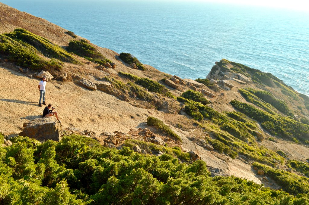 Location of dinosaur tracks at Cabo Espichel in Portugal