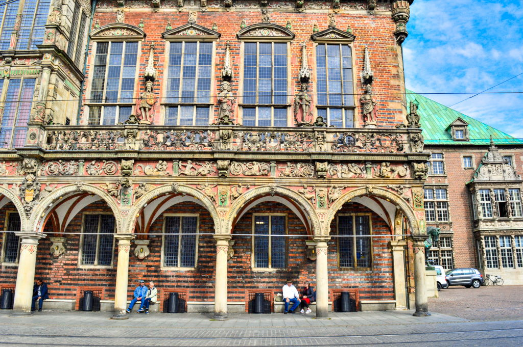 A view from the market square in central Bremen