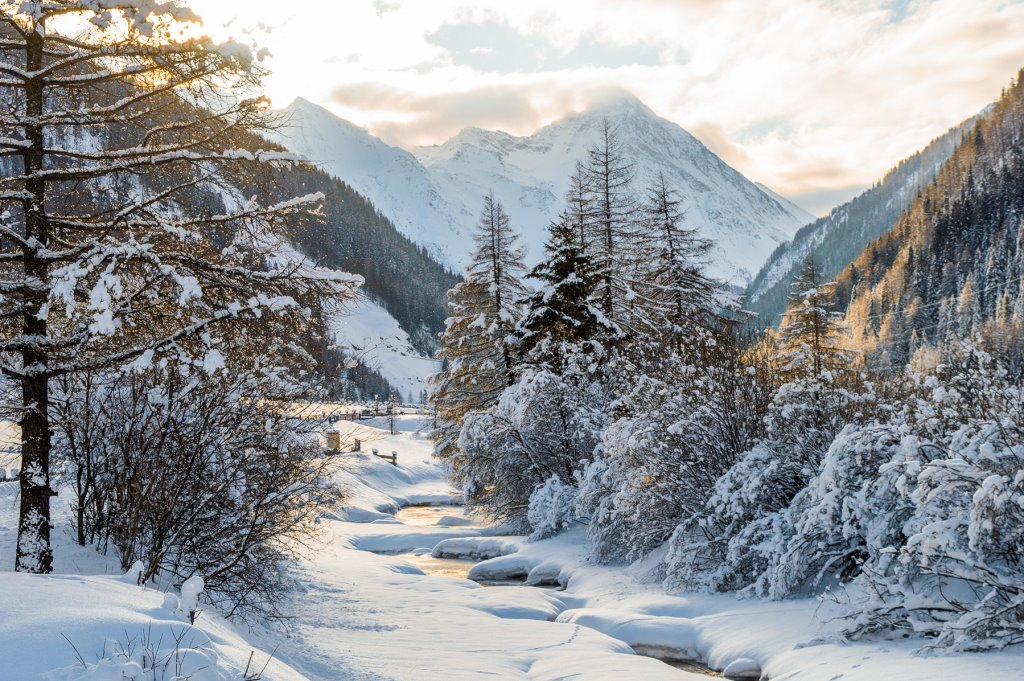 Hohe Tauern National Park in Winter