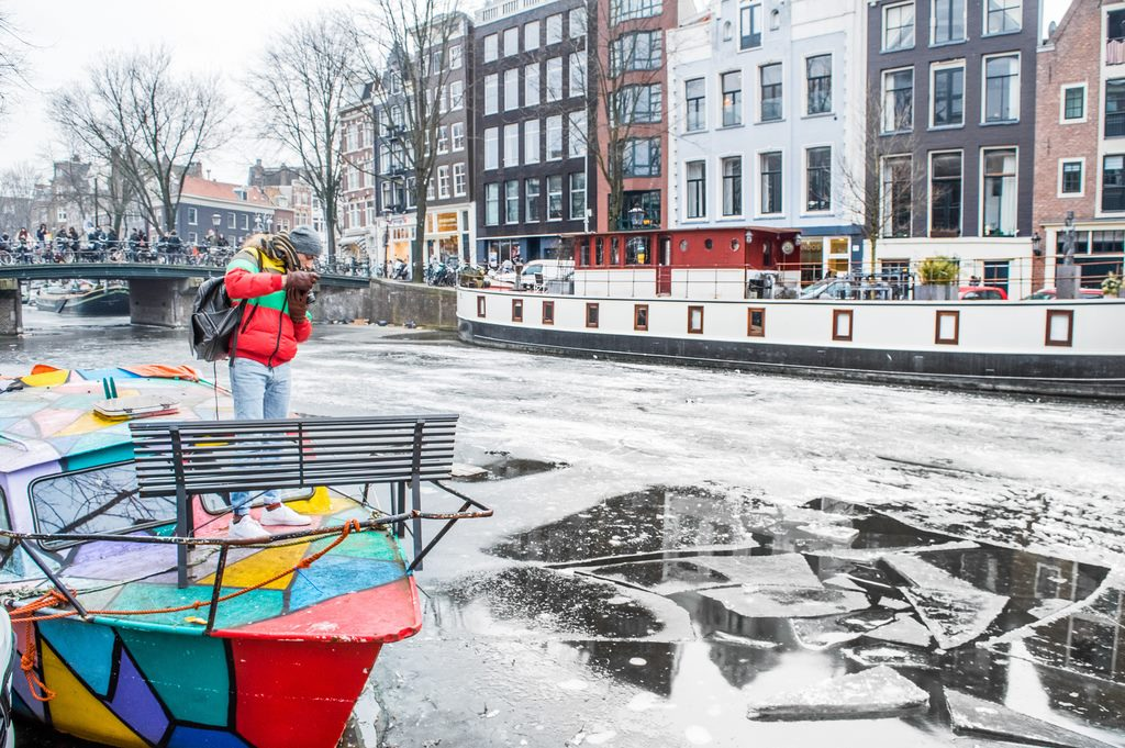Winter in Amsterdam on the canals