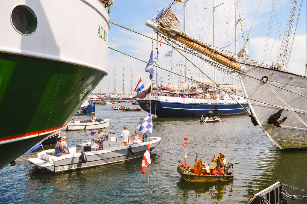 The Amsterdam harbor during SAIL 2015