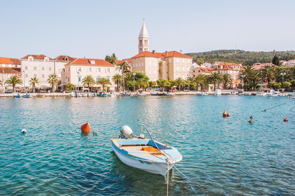 The town o Supetar in Croatia