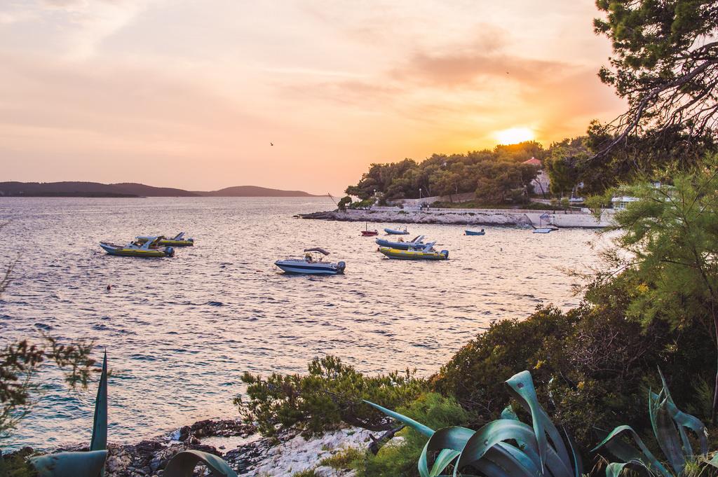 Sunset on the Dalmatian Coast in Croatia