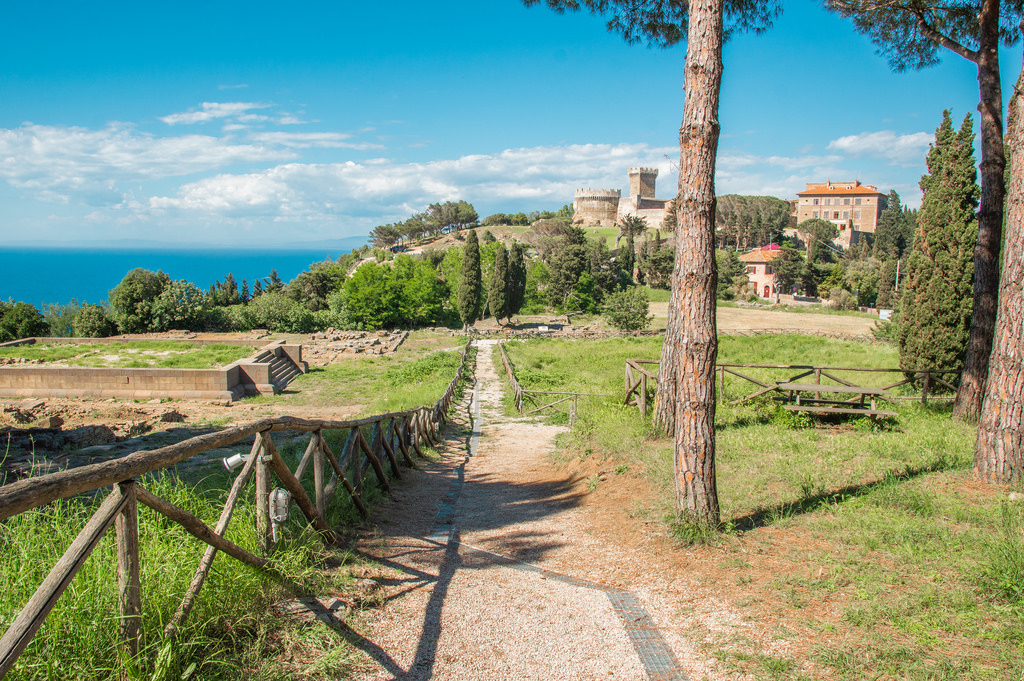 The archeological park near Populonia