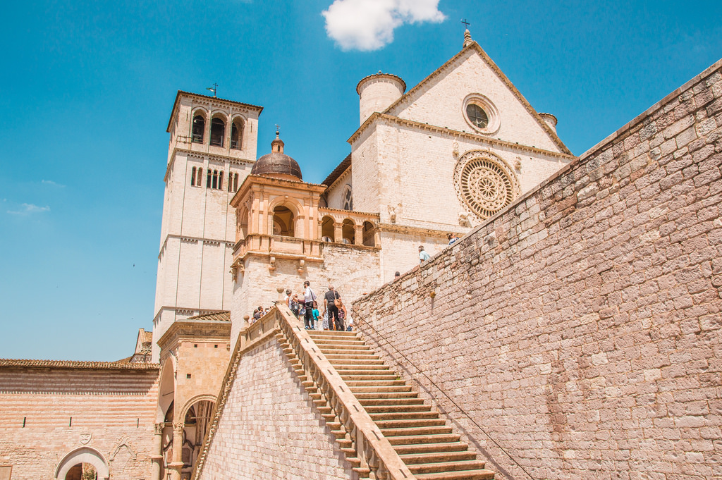 The Basilica of Saint Francis in Assisi.