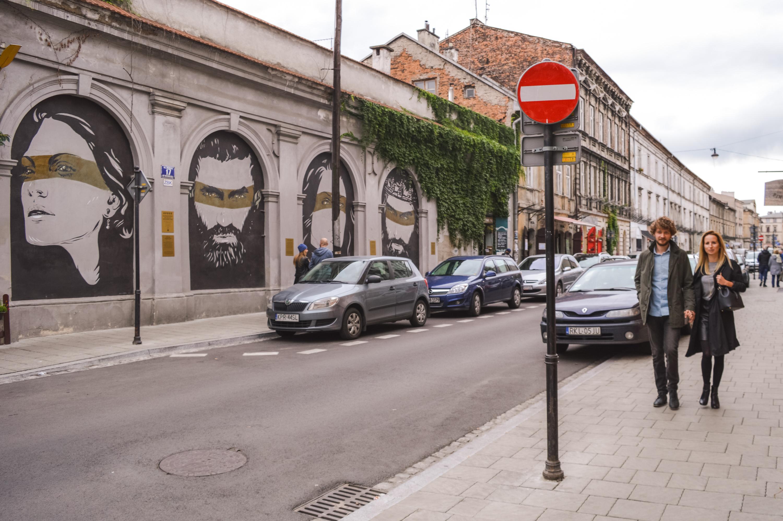 Street art in Kazimierz, Krakau.