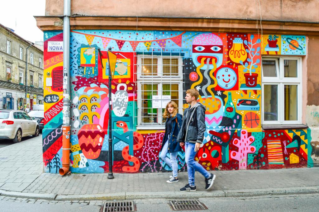 Street art in Kazimierz, Krakow
