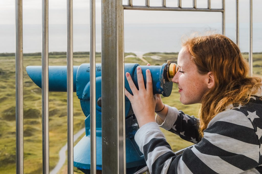 On top of the lighthouse on Ameland, Friesland.