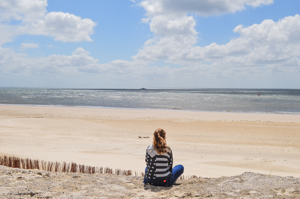 A beach on the Wadden Islands in Friesland (Ameland).
