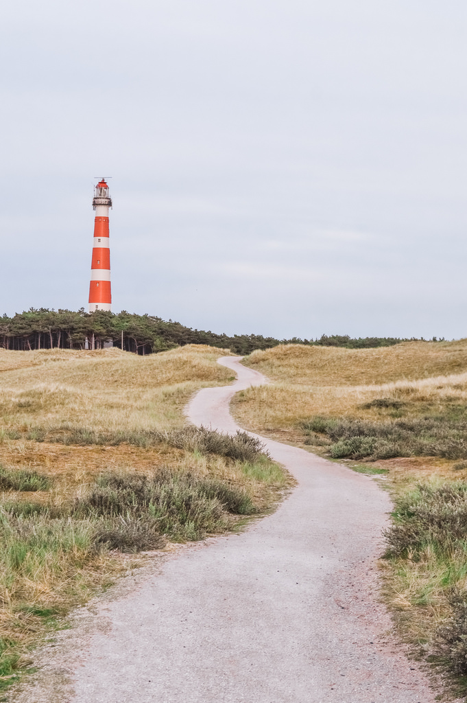 The lighthouse on Ameland, a Frisian island.