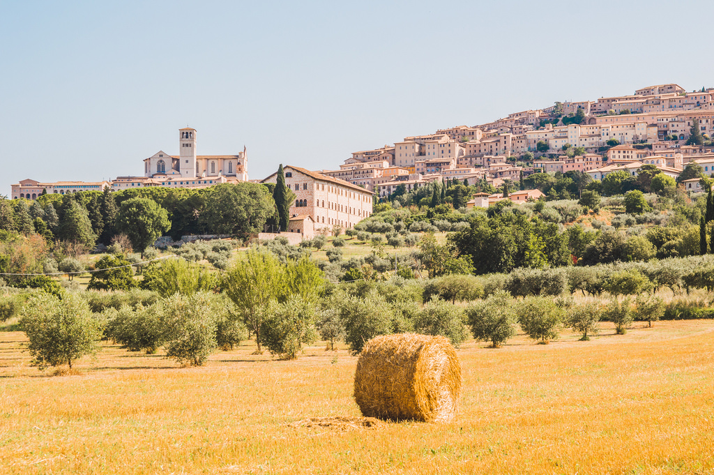 The cityscape of Assisi. a highight in this travel guide to Umbria