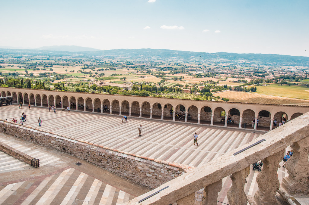 A view of the landscape in Umbria from Assisi.