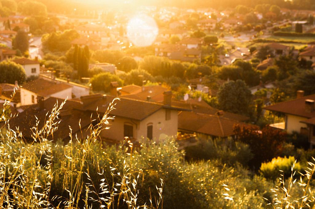 A golden sunset in Umbria (Castiglione del Lago)