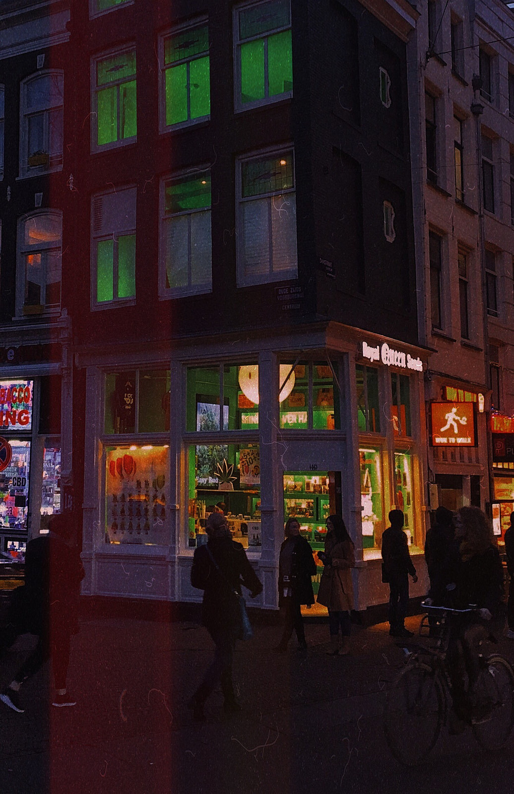 The streets of Amsterdam by night