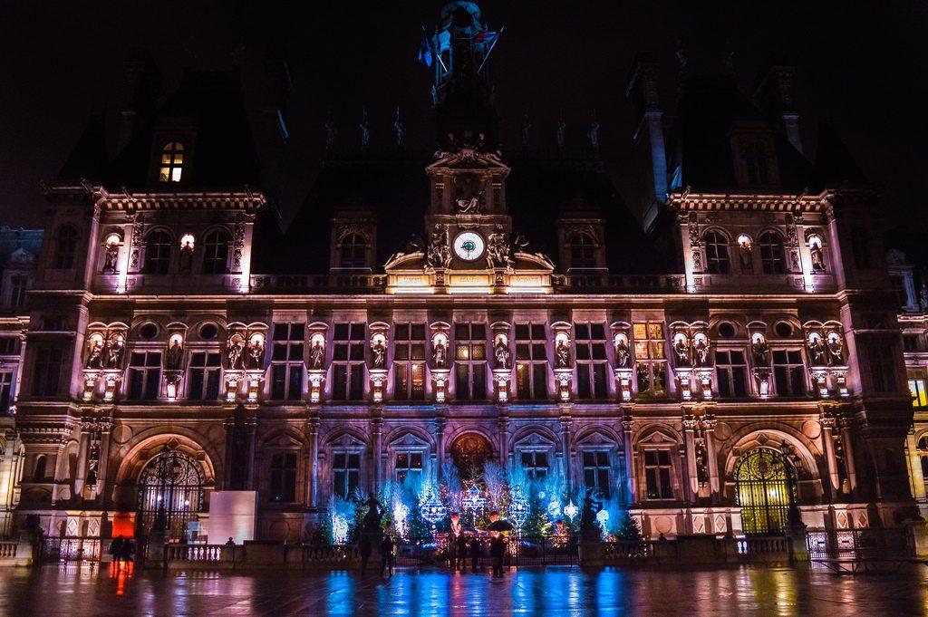 Hôtel de Ville in December