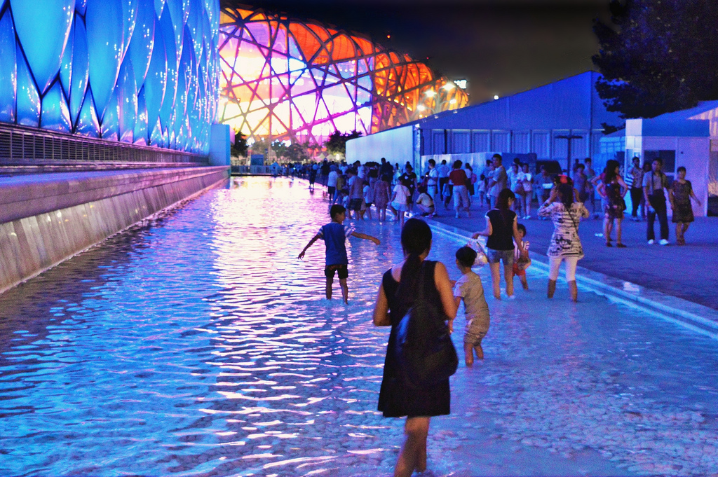The water cube at the Beijing Olympic Park