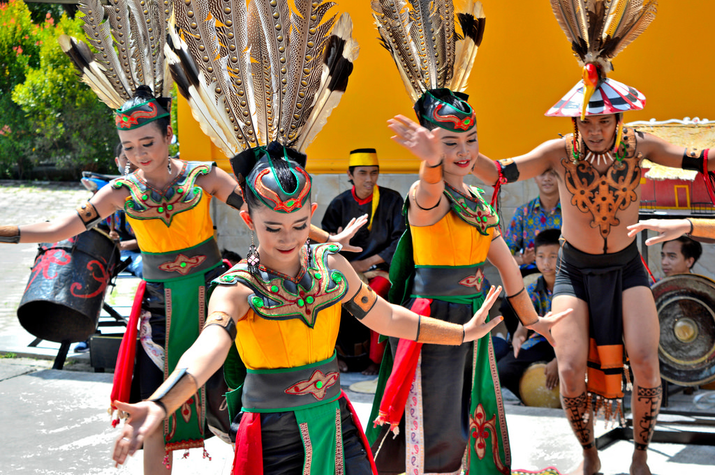 Traditional Dancers in Tangung Puting
