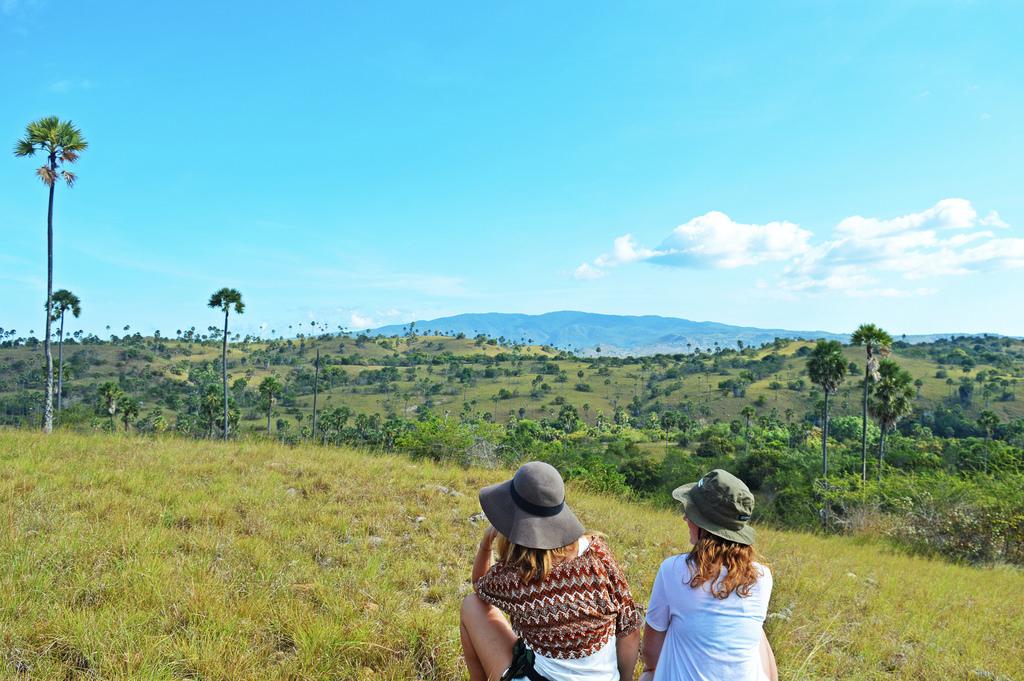 Admiring the landscape on Padar Island, Komodo National Park