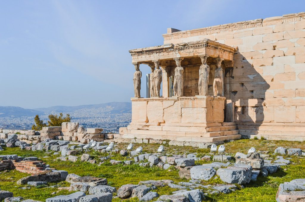 The ancient Acropolis in Athens