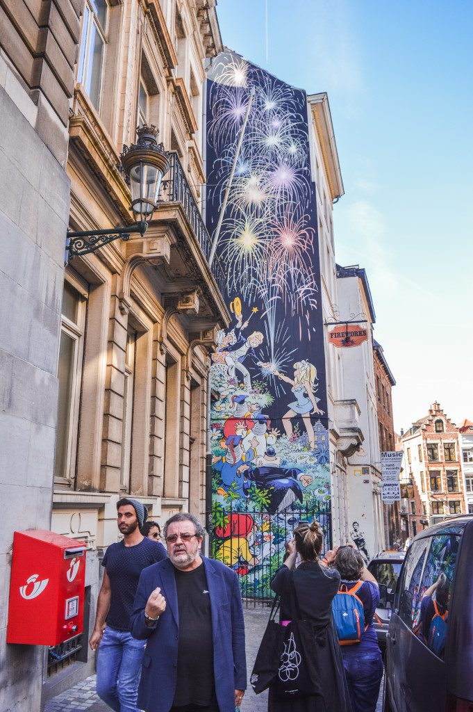 Comic book mural in Brussels