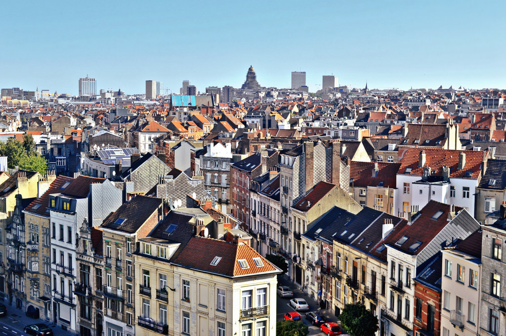 A paorama view of Brussels city