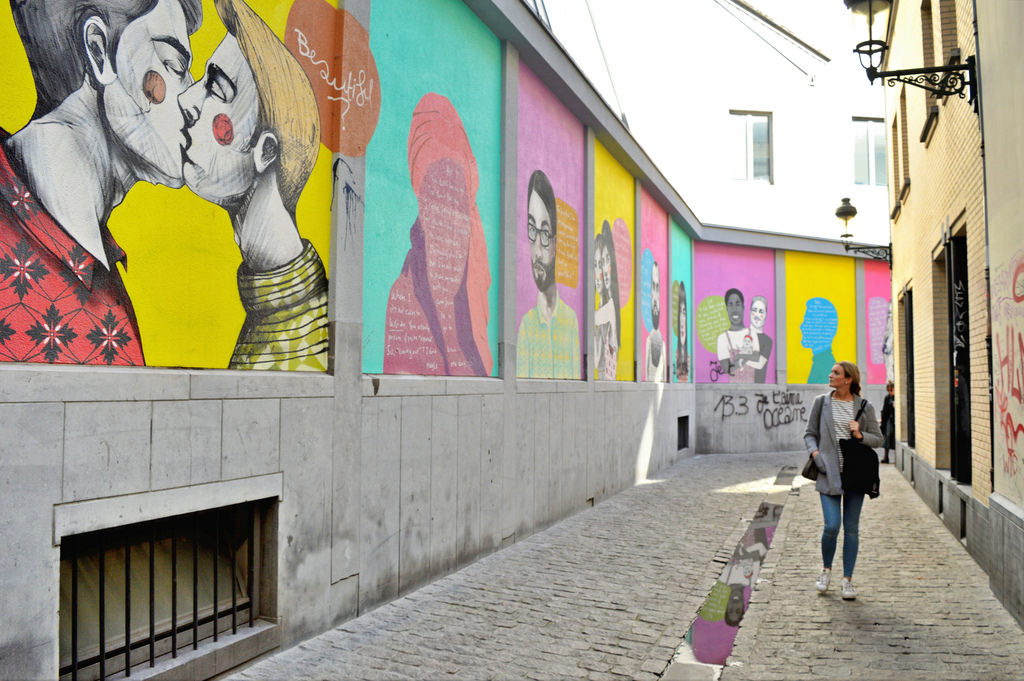 LGBTQ+ street art in Brussels