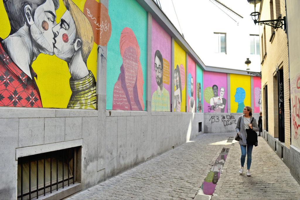 LGBTQ+ street art in Brussels