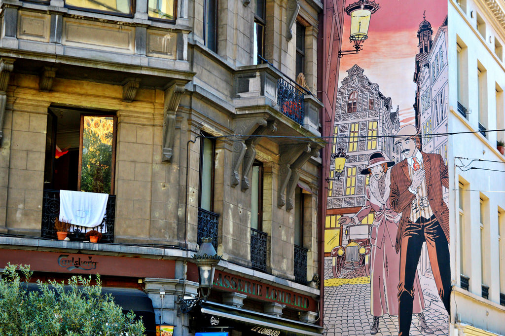 Comic Book Mural in Brussels.