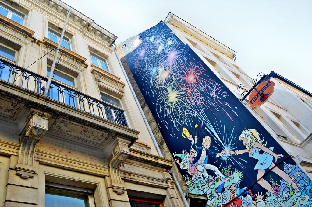 Comic Mural street art in Brussels