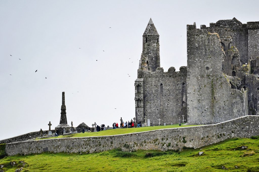 The ruined Rock of Cashel in Ireland.