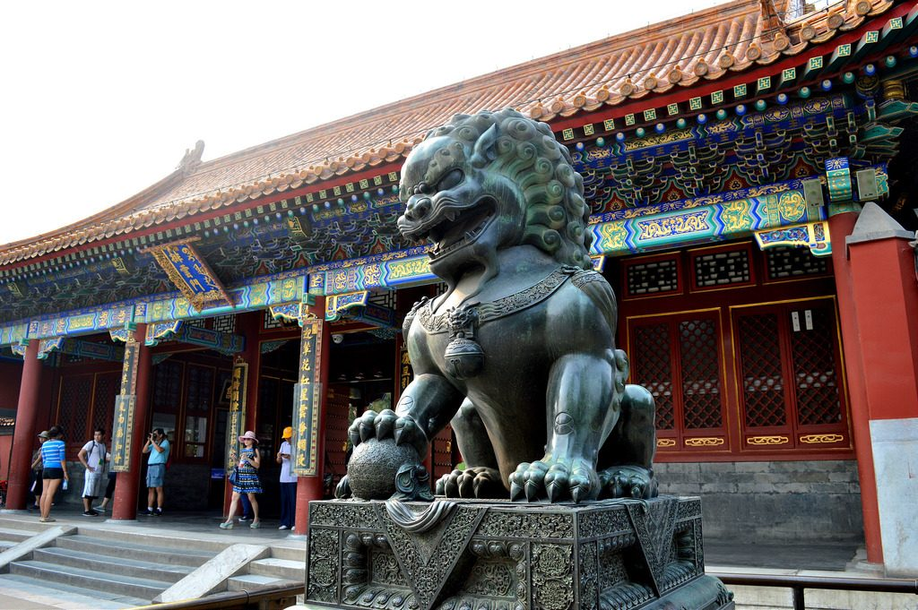Statue at the Summer Palace in Beijing