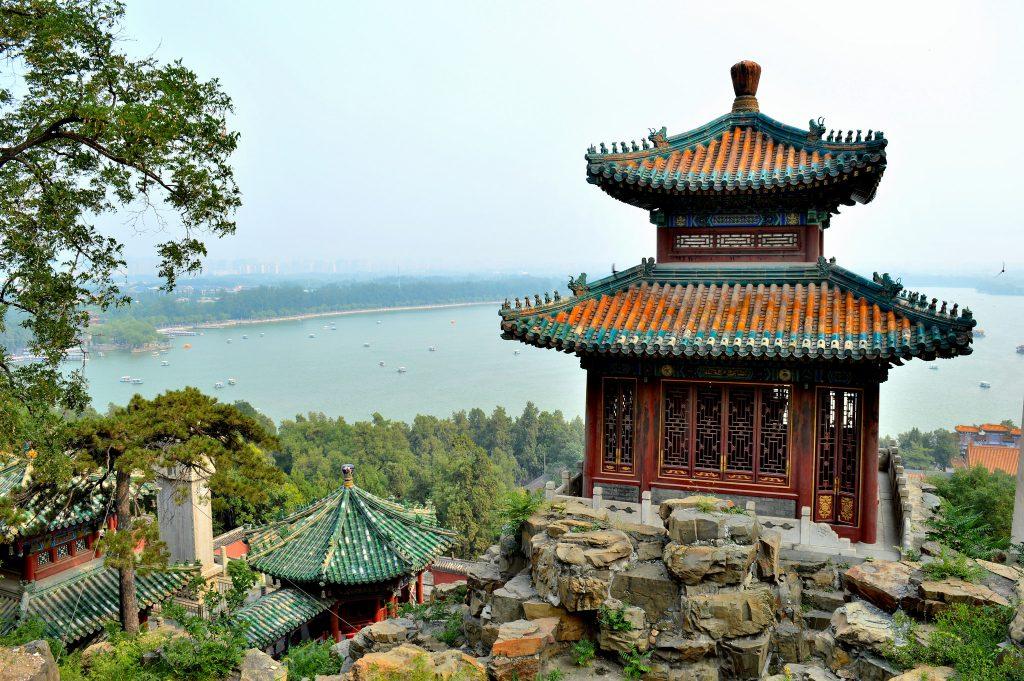 Summer Palace in Beijing, view of Kunming lake