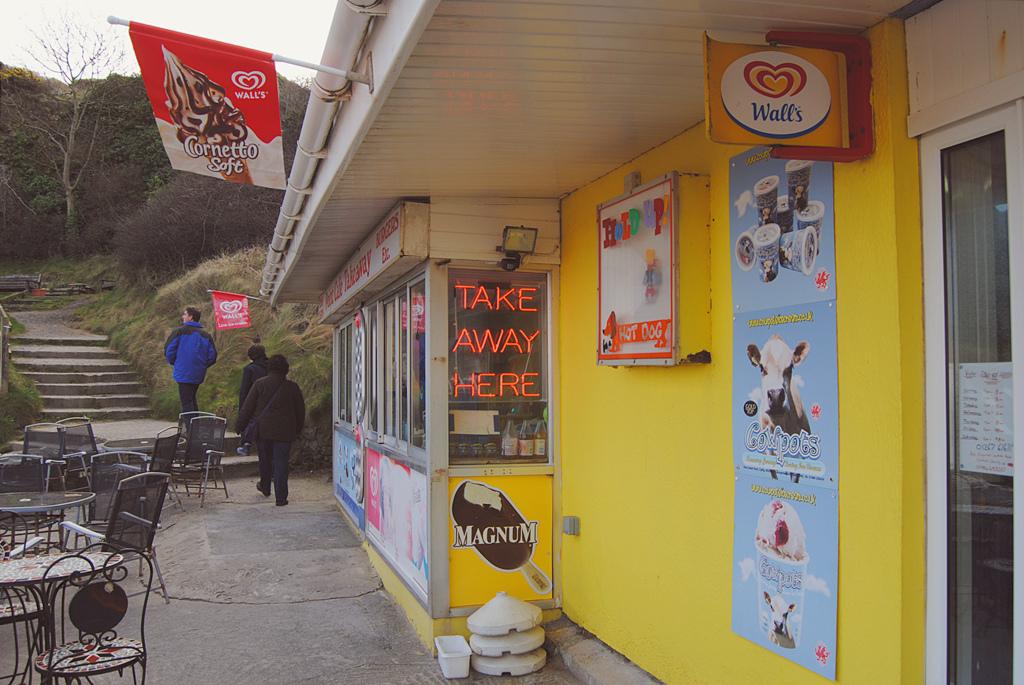 A cafeteria-like establishment at Pendine Sands