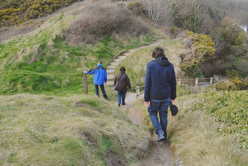 Taking a walk in the hilly landscape of Pendine Sands