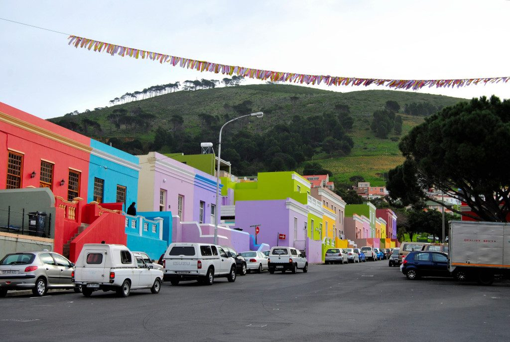 Colourful houses in the Bo-Kaap in Cape Town, South Africa