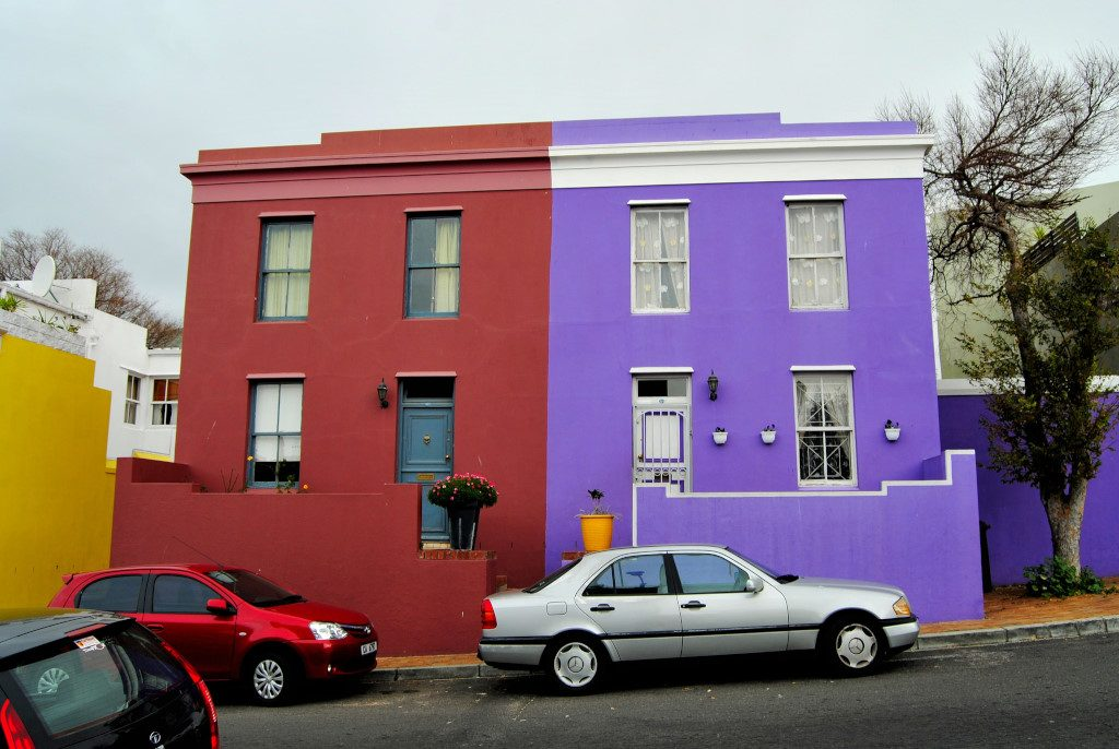 A red and purple house in the Bo-Kaap