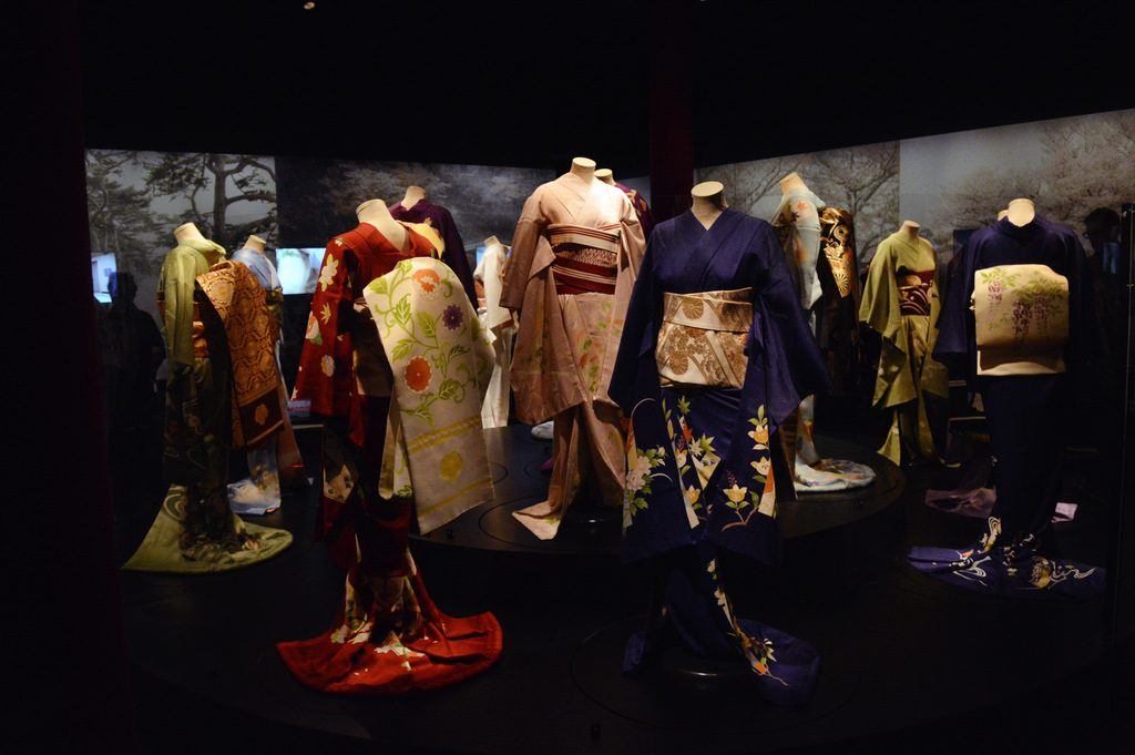 Kimono on display at the Geisha Exhibition in Leiden