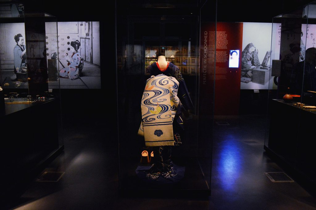 Kimono on display at Geisha Exhibition in Leiden
