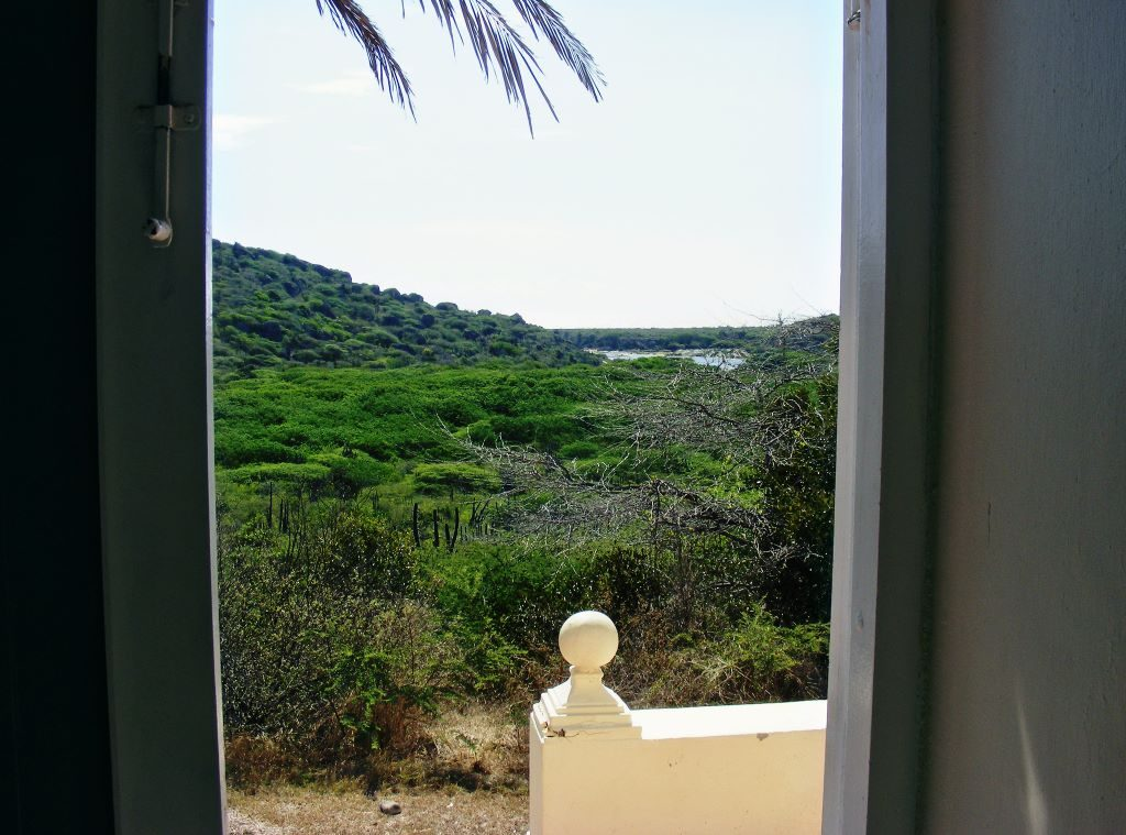The view from Landhuis Ascension on Curacao